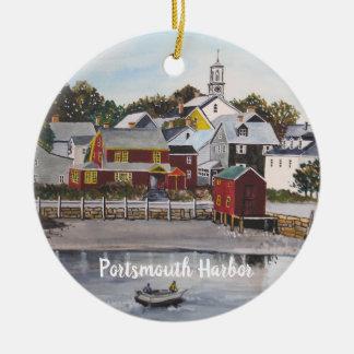 Ornamento De Cerâmica Porto de Portsmouth, New Hampshire