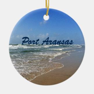 Ornamento De Cerâmica Praia de Aransas do porto em Texas