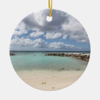 Ornamento De Cerâmica Praia na ilha de palma do De - Aruba