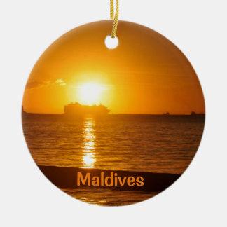 Ornamento De Cerâmica Praia tropical em Maldives