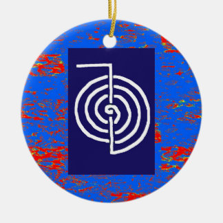 Ornamento De Cerâmica Presente cura básico do MODELO do símbolo de
