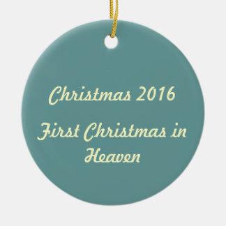 Ornamento De Cerâmica Primeiro Natal no céu 2016