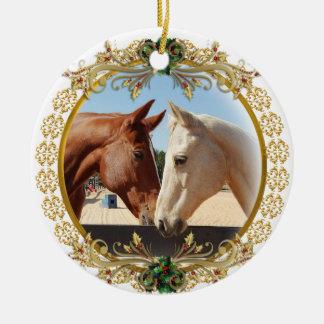 Ornamento De Cerâmica Primeiros cavalos do Natal