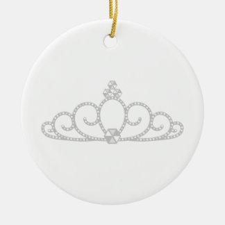 Ornamento De Cerâmica Princesa Coroa