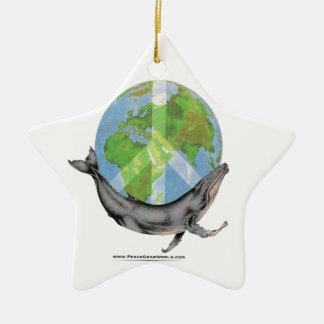 Ornamento De Cerâmica Projeto da paz da baleia de Humpback