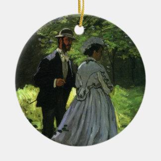 Ornamento De Cerâmica Promenaders por Claude Monet, impressionismo do