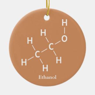 Ornamento De Cerâmica Química da molécula do álcool de etilo do álcool