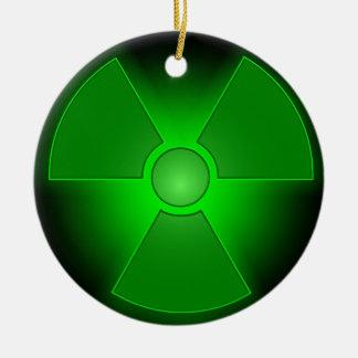 Ornamento De Cerâmica Radioactividade de incandescência verde engraçada