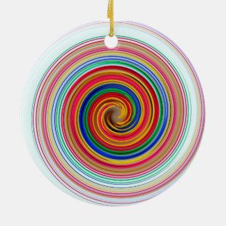 Ornamento De Cerâmica Redemoinhos da cor preliminar