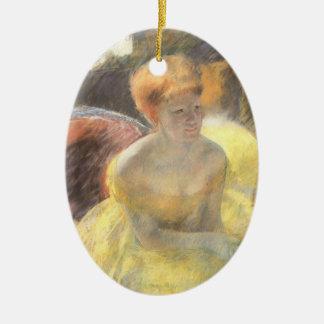 Ornamento De Cerâmica Retrato de Lydia na ópera por Mary Cassatt