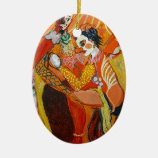 Ornamento De Cerâmica Riso - pintura do palhaço
