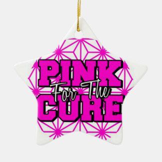 Ornamento De Cerâmica rosa para a cura