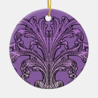 Ornamento De Cerâmica Roxo original de Ombre do redemoinho do vintage