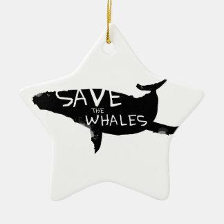 Ornamento De Cerâmica Salvar as baleias
