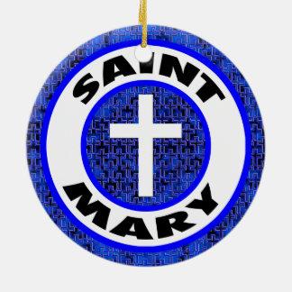 Ornamento De Cerâmica Santo Mary