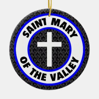 Ornamento De Cerâmica Santo Mary do vale
