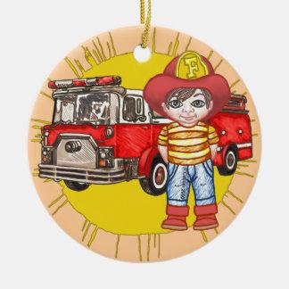 Ornamento De Cerâmica Sapador-bombeiro pequeno
