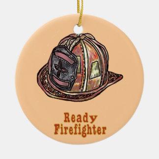 Ornamento De Cerâmica Sapador-bombeiro pronto