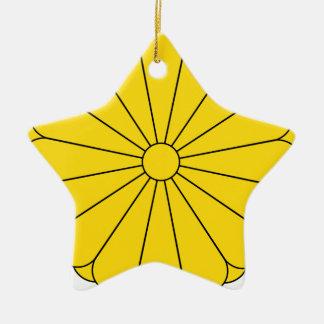 Ornamento De Cerâmica Selo imperial de Japão - 菊花紋章