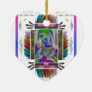 Ornamento De Cerâmica Série de Mary da mãe