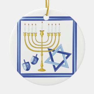Ornamento De Cerâmica Símbolos de Hannukah