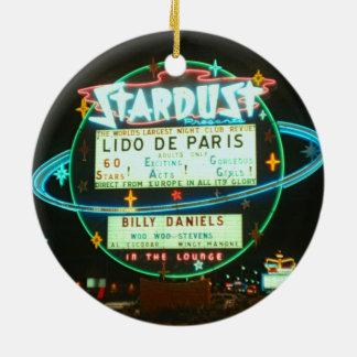 Ornamento De Cerâmica sinal de néon do casino de Las Vegas Stardust dos