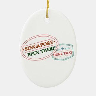Ornamento De Cerâmica Singapore feito lá isso