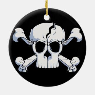 Ornamento De Cerâmica Skullusion