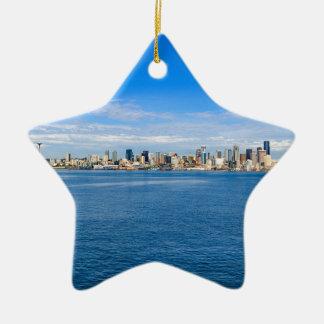 Ornamento De Cerâmica Skyline de Seattle
