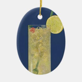 Ornamento De Cerâmica Soda da limonada ou da fruta do vintage, bebidas