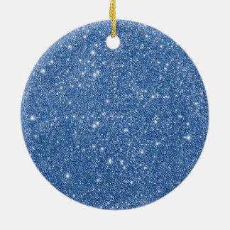 Ornamento De Cerâmica Sparkles azuis do brilho