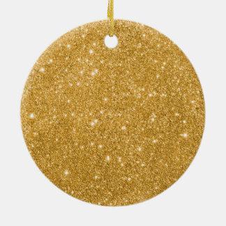 Ornamento De Cerâmica Sparkles do brilho do ouro