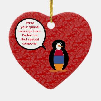 Ornamento De Cerâmica Sr. arménio Pinguim do feriado