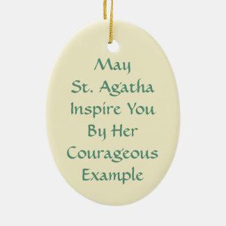 Ornamento De Cerâmica St. Agatha (M 003)