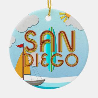 Ornamento De Cerâmica T San Diego