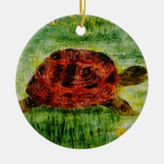 Ornamento De Cerâmica Tartaruga animal da arte do réptil