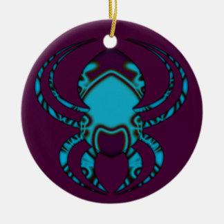 Ornamento De Cerâmica Tatuagem do azul da aranha