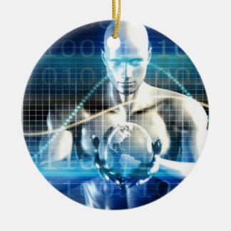 Ornamento De Cerâmica Tecnologia futura nova dentro da palma de sua mão