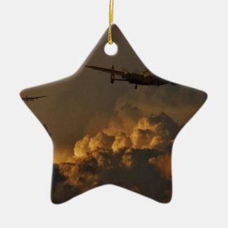Ornamento De Cerâmica TEMPESTADE do bombardeiro de Lancaster