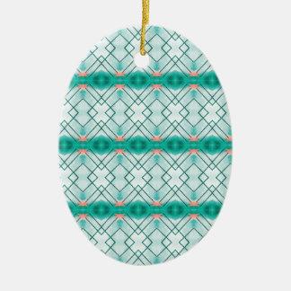 Ornamento De Cerâmica Teste padrão azul