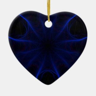 Ornamento De Cerâmica teste padrão azul do laser