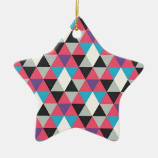 Ornamento De Cerâmica Teste padrão azul e branco cor-de-rosa do