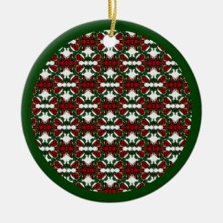 Ornamento De Cerâmica Teste padrão do presente de Natal