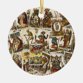 Ornamento De Cerâmica Teste padrão dos cartões de Tarot