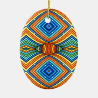 Ornamento De Cerâmica Teste padrão moderno colorido do sudoeste