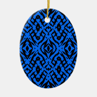 Ornamento De Cerâmica Teste padrão tribal azul das formas
