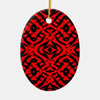 Ornamento De Cerâmica Teste padrão tribal vermelho das formas
