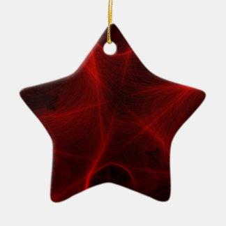 Ornamento De Cerâmica teste padrão vermelho do laser