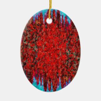 Ornamento De Cerâmica Textura do fogo e do gelo