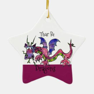 Ornamento De Cerâmica Thar seja dragões